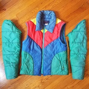 Vintage Convertible Puffer Coat/Vest - Size Medium